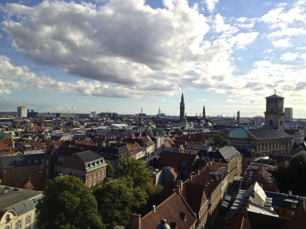 View over Copenhagen from the Rundetaarn.